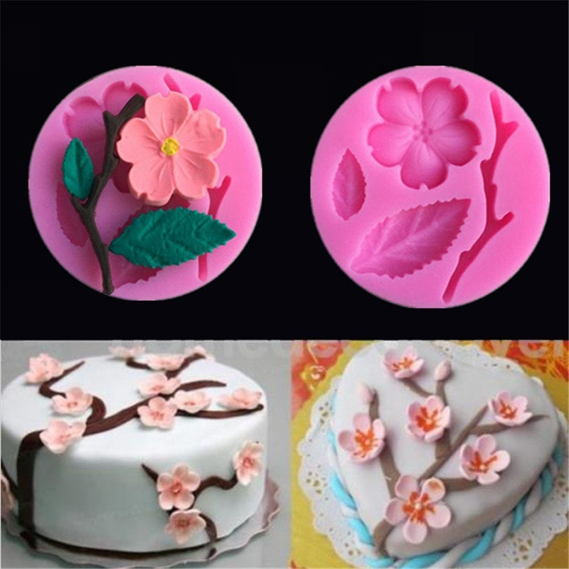 3D Food-grade Silicone Mold Peach Blossom Shapes