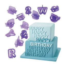40pcs Alphabet Letter Number Fondant Cake Biscuit Baking Mold Cookie Cutters