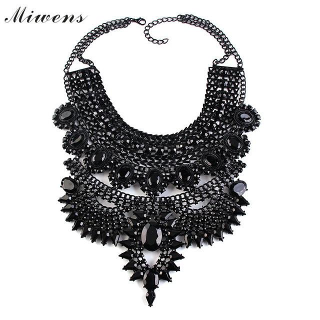 Necklaces & Pendants Vintage Gems Maxi Choker Statement Collier Femme Boho Fashion