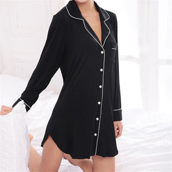 Modal long sleeve Nightgowns