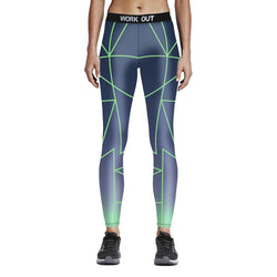 Digital Print Laser Line Leggings