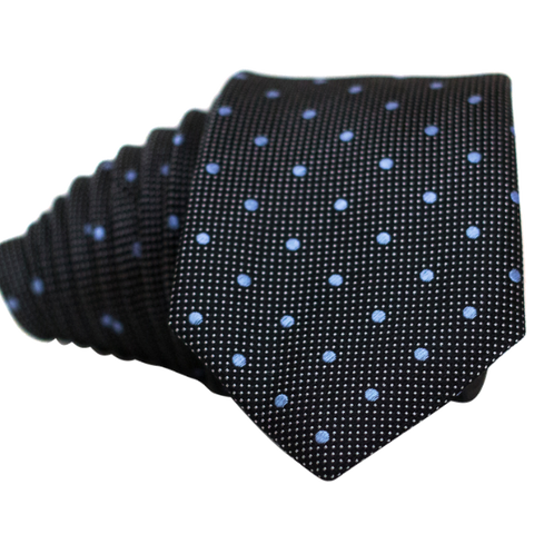 Black Double Dot Necktie