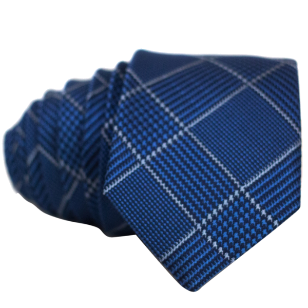 Blue Cross Striped Necktie - Nice. Modern Menswear
