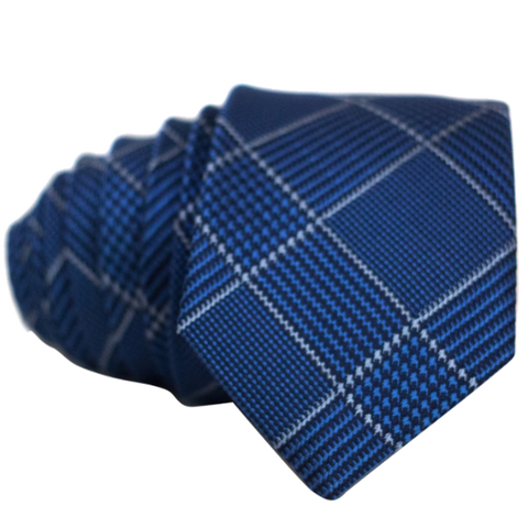 Blue Cross Striped Necktie