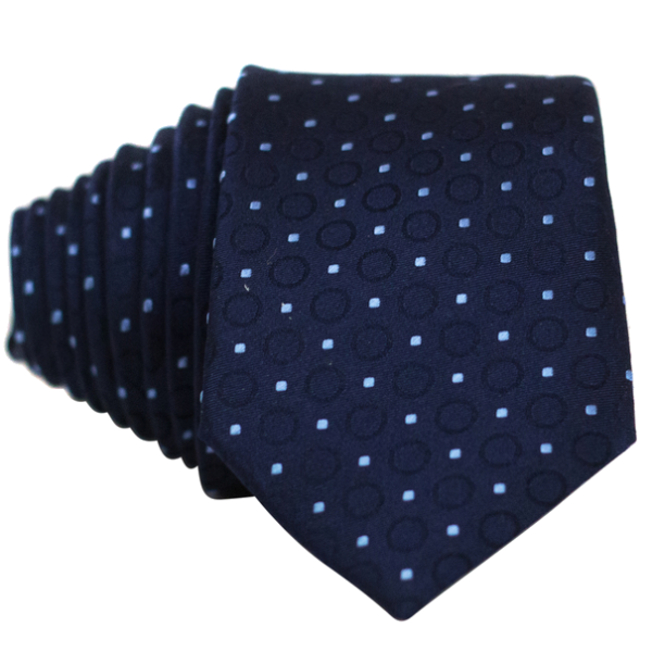 Blue Dot and Circles Necktie - Nice. Modern Menswear
