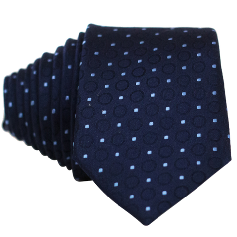 Blue Dot and Circles Necktie