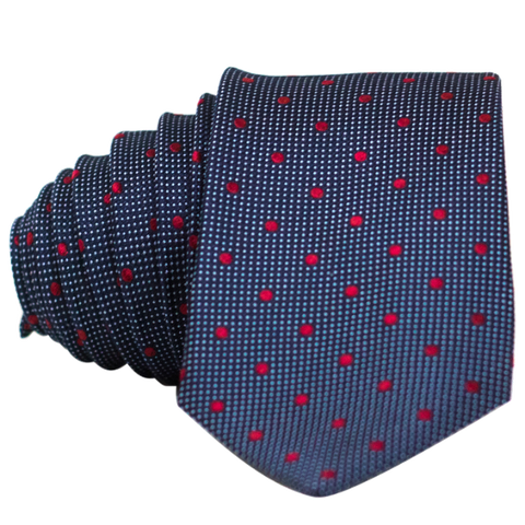 Blue/Grey Double Dot Necktie