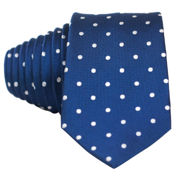 Classic Blue and White Dot Necktie - Nice. Modern Menswear