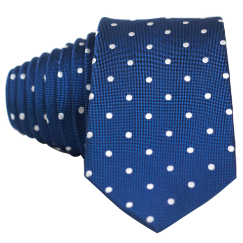 Classic Blue and White Dot Necktie