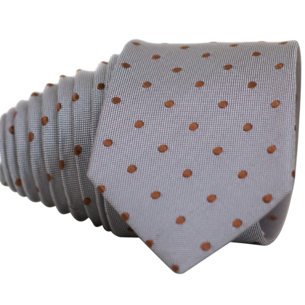 Classic Grey and Red Dot Necktie - Nice. Modern Menswear