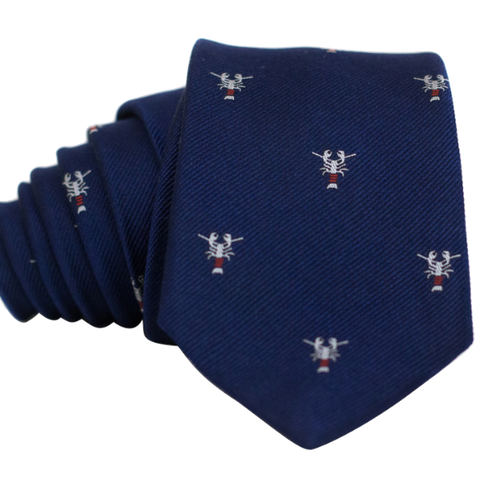 Lobster on Navy Necktie