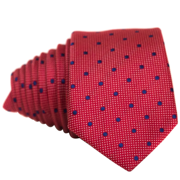 Red Double Dot Necktie - Nice. Modern Menswear