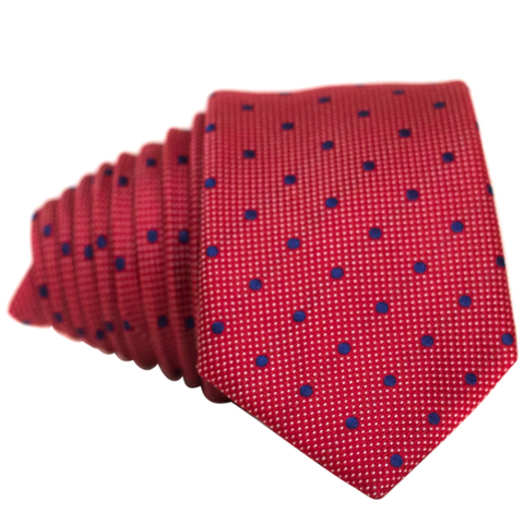 Red Double Dot Necktie