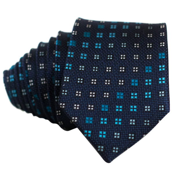 Squares on Blue Necktie - Nice. Modern Menswear