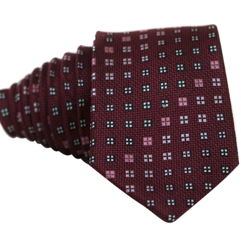 Squares on Red Necktie