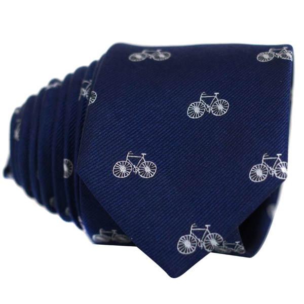 Bicycles on Navy Necktie - Nice. Modern Menswear