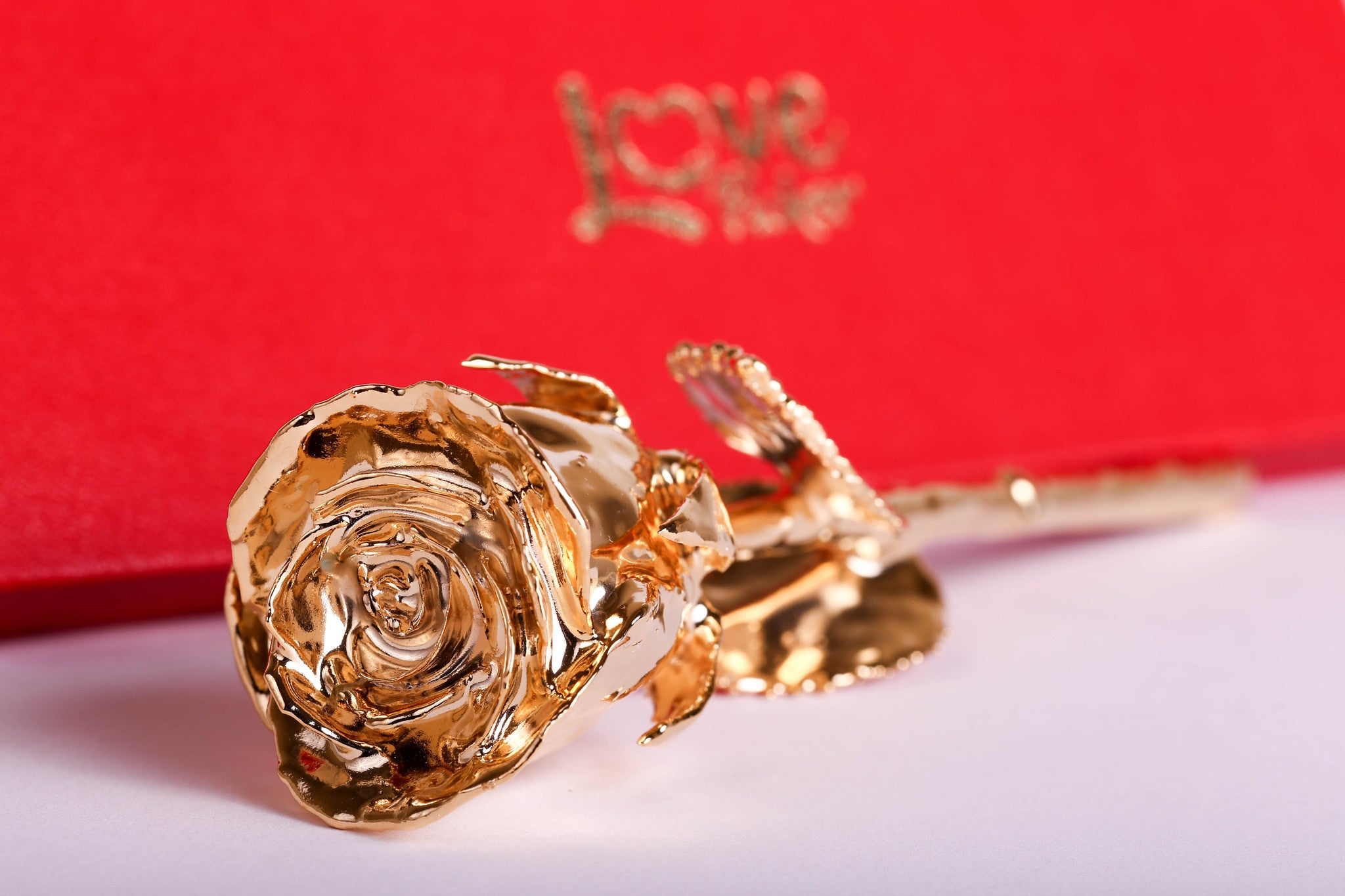 "24 Karat Gold Dipped Natural Rose 7"" - Lovepicker"
