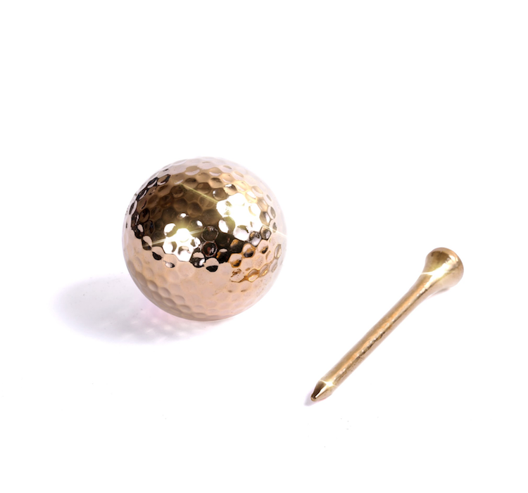 24K Gold Golf Ball & Tee