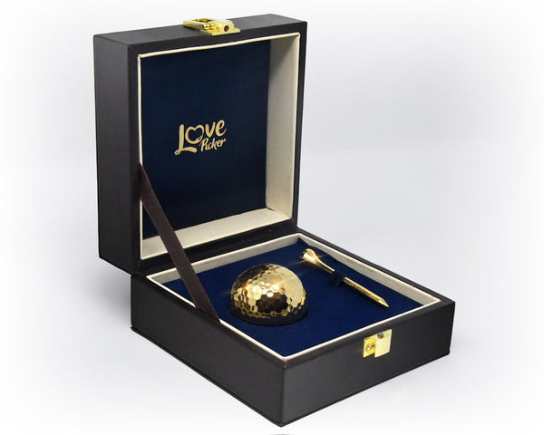24K Gold Golf Ball & Tee - Lovepicker