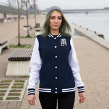 Money Junkies Apparel Womens Logo Varsity Jacket - The Money Junkies Apparel Shop