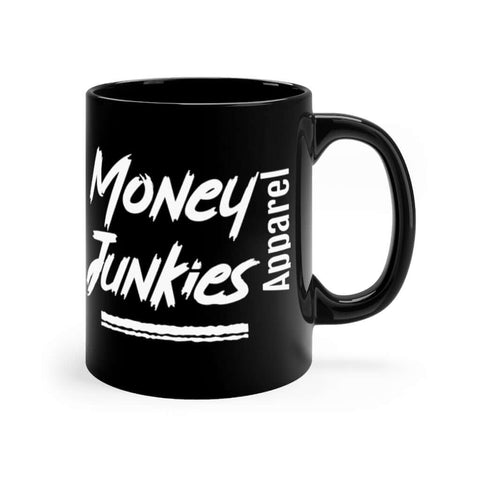 Black MJA logo mug 11oz