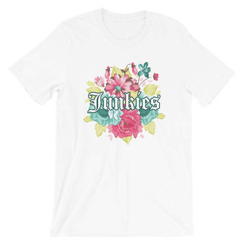 Flower Junkies Tee - The Money Junkies Apparel Shop