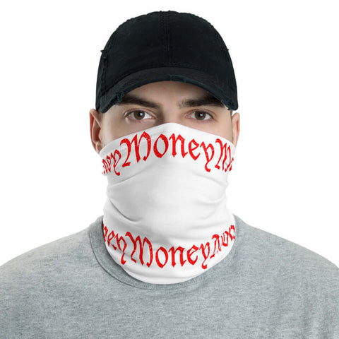Old English Money Script Neck Gaiter - The Money Junkies Apparel Shop