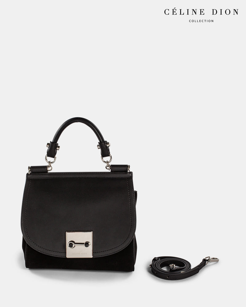 Céline Dion Baroque Handle Bag HDL5856 Black Color2