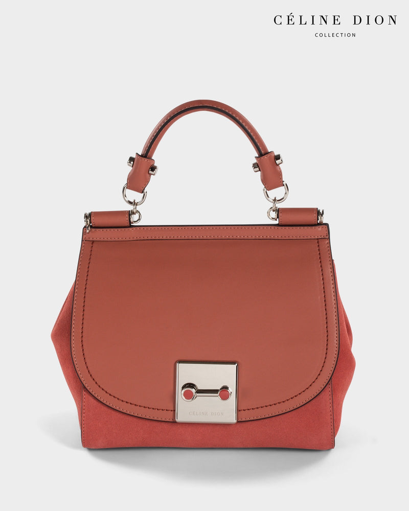 Céline Dion Baroque Handle Bag HDL5856 Sienna Color1First