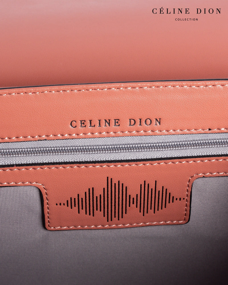 Céline Dion Baroque Handle Bag HDL5856 Sienna Color3