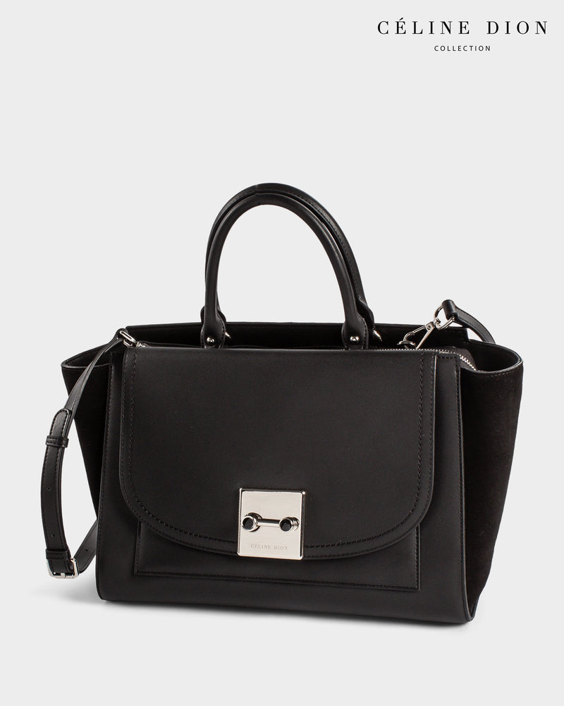 Céline Dion Baroque Satchel SCH5857 Black Color1