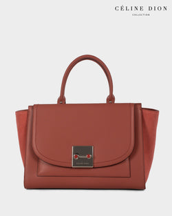 Céline Dion Baroque Satchel SCH5857 Sienna Color2First