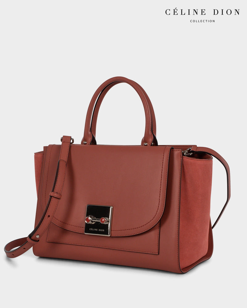 Céline Dion Baroque Satchel SCH5857 Sienna Color2