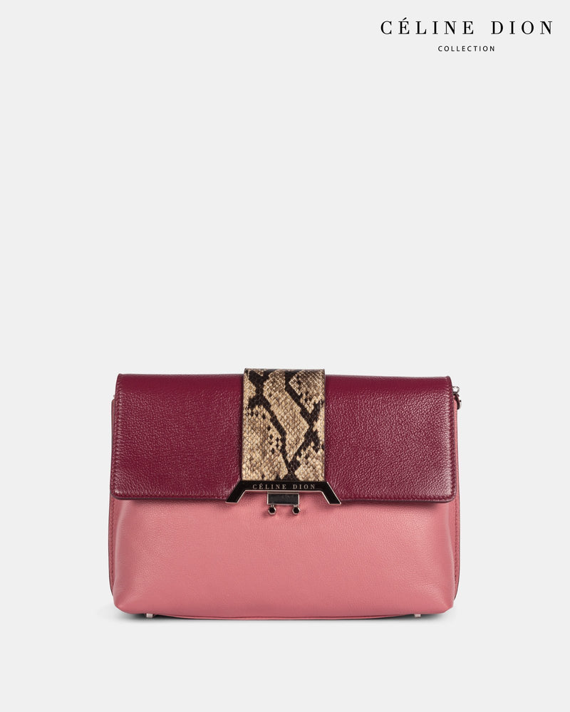 Céline Dion Coda Clutch CLT5828 WineRosegoldSnake Color3First