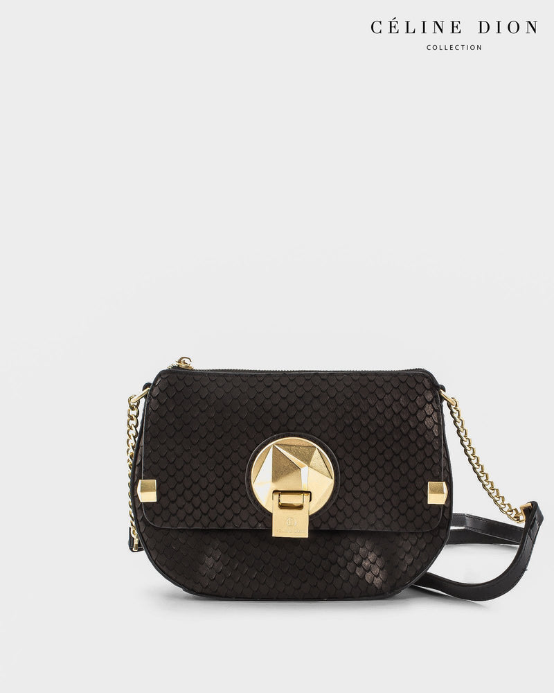 Céline Dion Octave Crossbody CBY5389S Black Snake Color1First