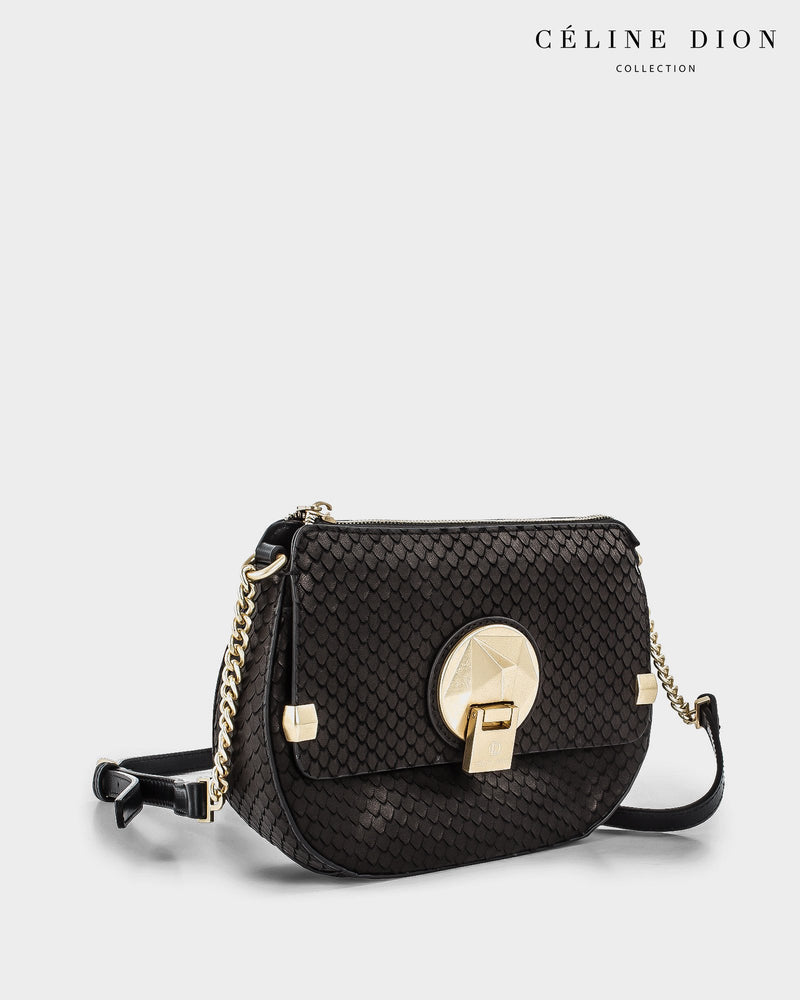 Céline Dion Octave Crossbody CBY5389S Black Snake Color1