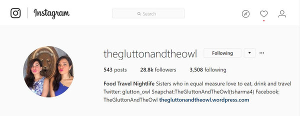 The Glutton and The Owl Social Media