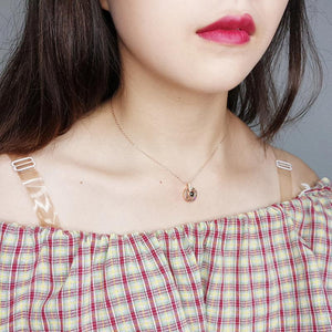 100 Languages - I Love You Necklace - Wearing the Rose Gold