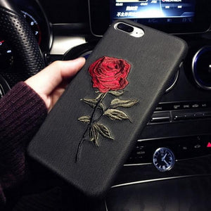 Black / For iPhone 6s Plus Rose Case for iPhone Exfitbell