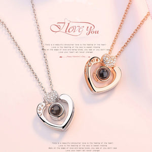 100 Languages - Heart Edition - Showcase of Rose Gold & Silver