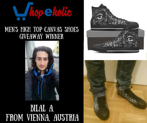 mens high top canvas shoes winner