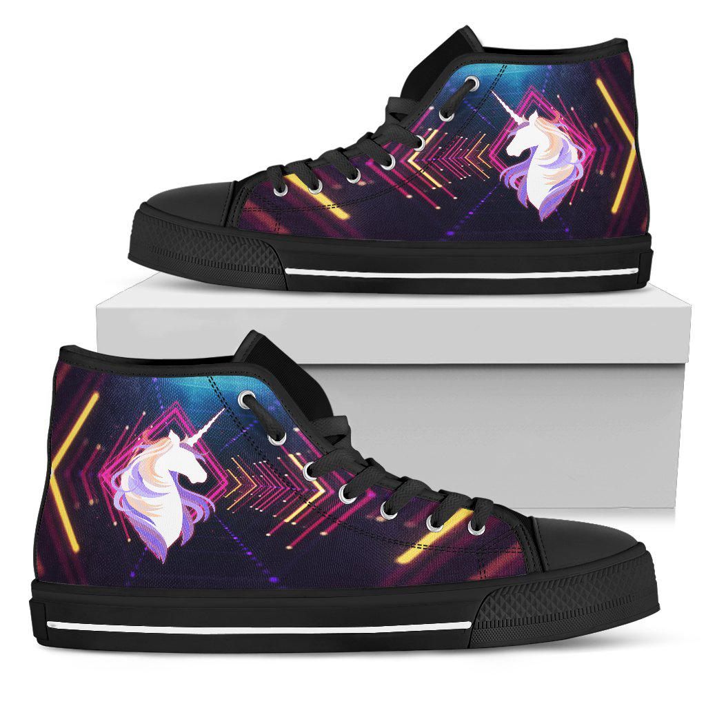 Shopeholic:Unicorn Zoom Women's High Top Shoes