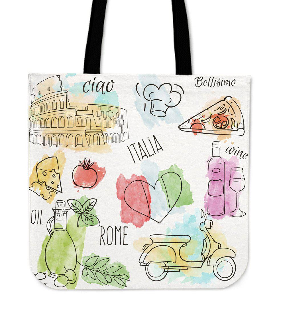 Shopeholic:Italy Cotton Tote Bag