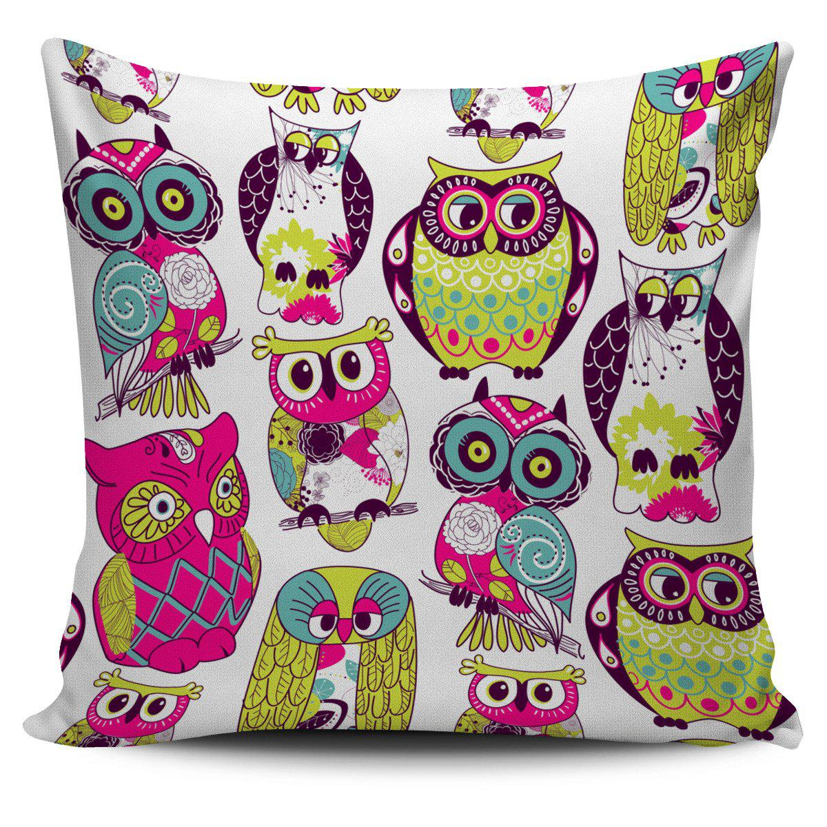 Shopeholic:Pillow Cover Owls Multi color