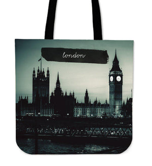 Shopeholic:London City Cloth Tote Bag