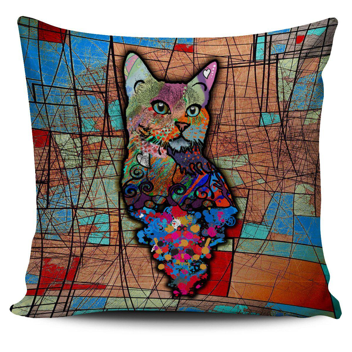 Shopeholic:Surreal Cat Pillow Cover