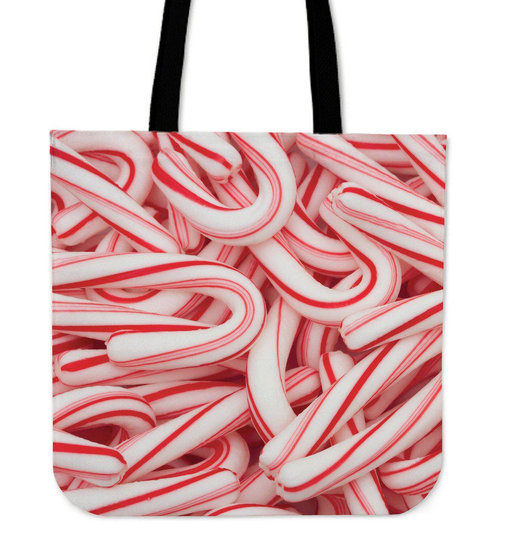 Shopeholic:Candy Canes Cloth Tote Bag