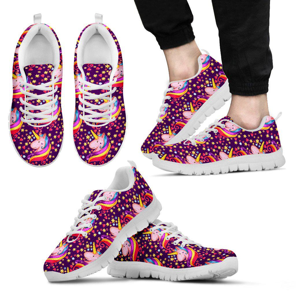 Shopeholic:Unicorn and Stars Men's Sneakers