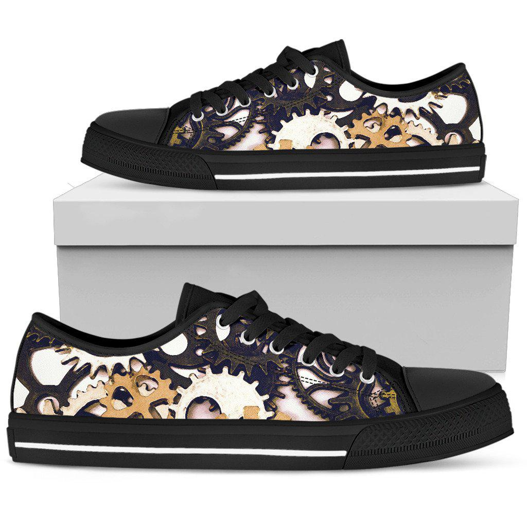Shopeholic:Women's Low Tops Gears (Black Sole)