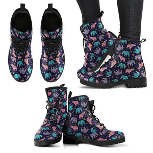 Shopeholic:Elephant Pattern Women's Leather Boots